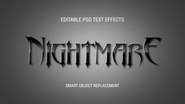 Glanzend zwart teksteffect