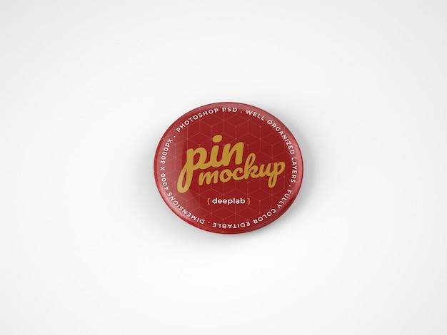 Glanzende knop pin mockup