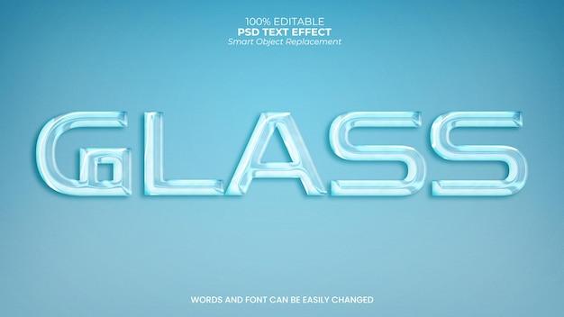 Glas teksteffect
