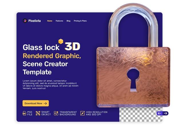 Glasslot 3d weergegeven ontwerp