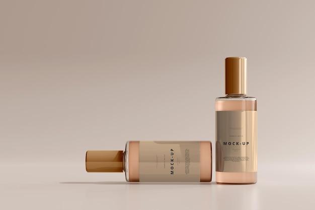 Glazen cosmetische flesmodel