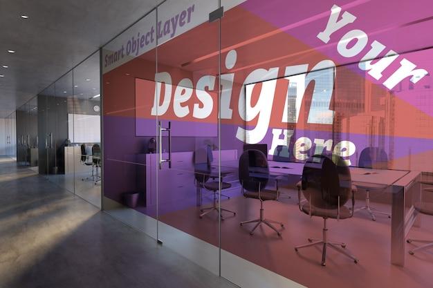 Glazen kantoorruimte muurmodel
