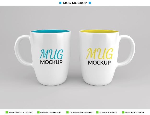 Glazen koffie of theemok mockup ontwerp
