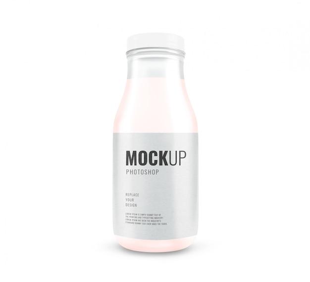 Glazen melkfles minimaal mockup