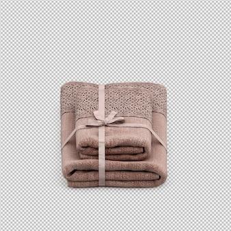 Gli asciugamani piegati 3d isolati rendono