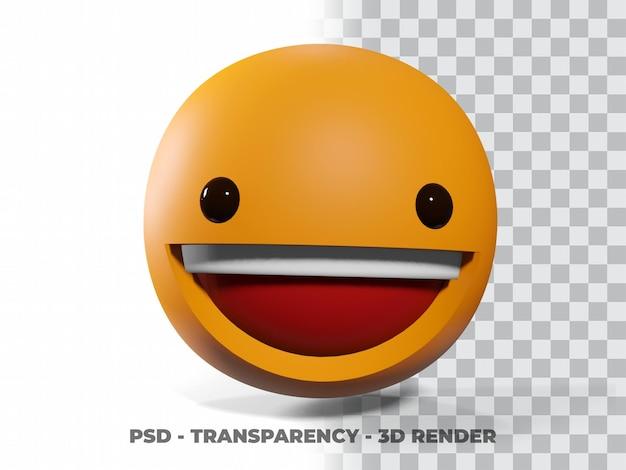 Glimlach emoticon 3d met transparantie achtergrond