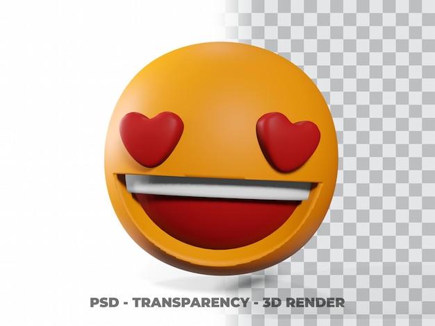 Glimlach emoticon 3d met transparantie achtergrond Premium Psd