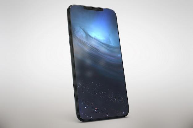 Glimmende smartphone bespot