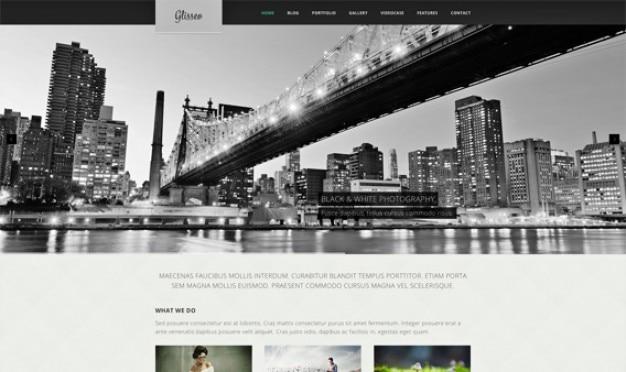 Glisséo homepage psd