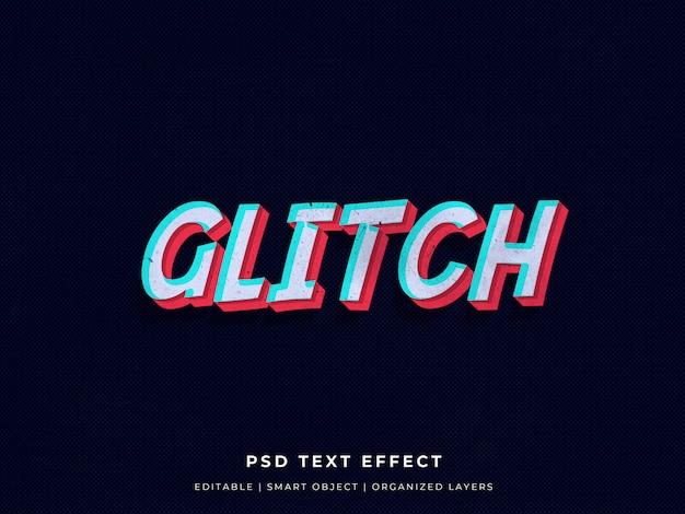 Glitch 3d-teksteffect