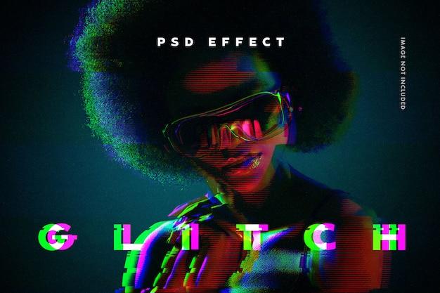 Glitch foto-effect