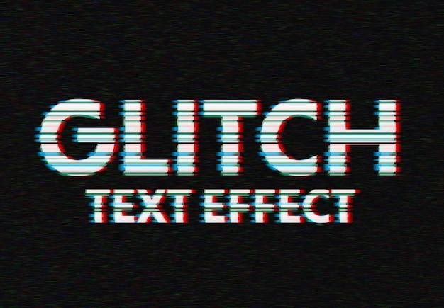 Glitch teksteffect mockup