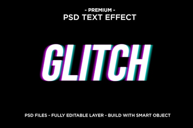Glitch text effect template