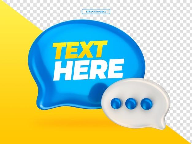 Globo discurso burbuja chat 3d render