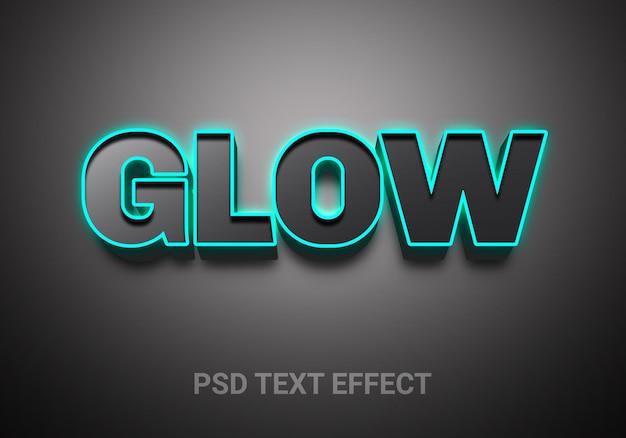 Gloeiende, levendige omtrekslicht bewerkbare teksteffecten