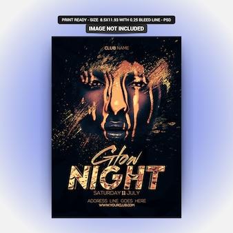 Glow night party