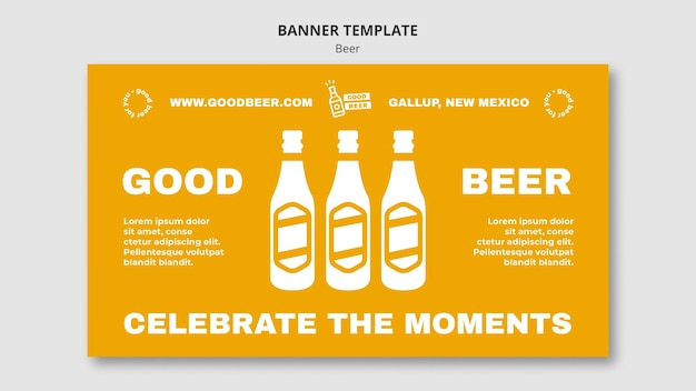 Goed bier banner websjabloon
