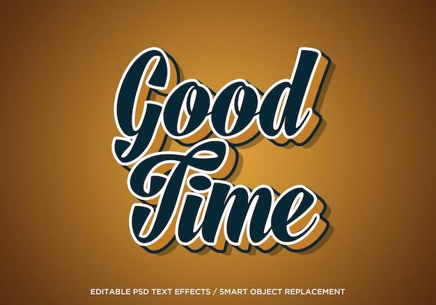 Goede tijd bewerkbaar teksteffect