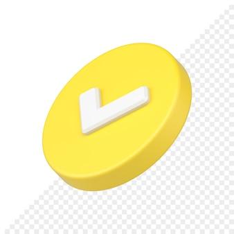 Goedgekeurd 3d-pictogram