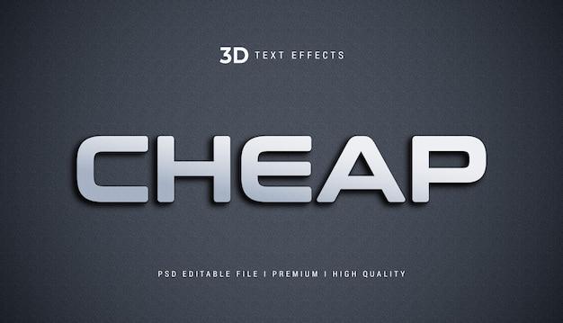 Goedkoop 3d-tekststijleffectmodel