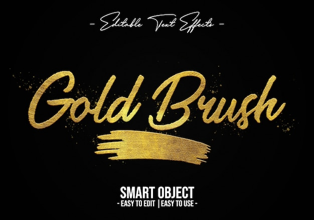 Gold-brush-text-style-effect