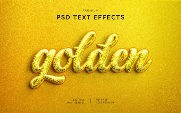 Golden glitter text effect generator