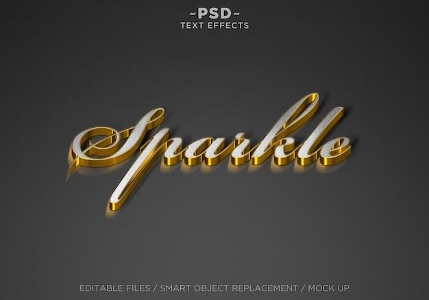 Golden sparkle effects bewerkbare tekst