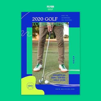 Golf concept folder sjabloon
