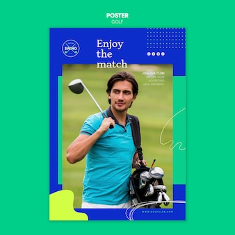 Golf concept poster sjabloon