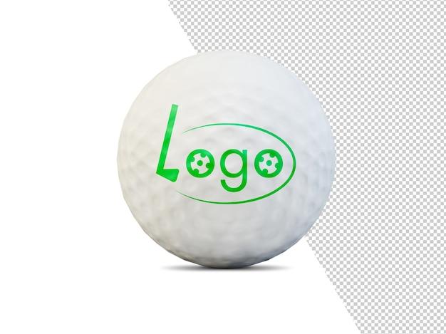Golfbal geïsoleerd mockup