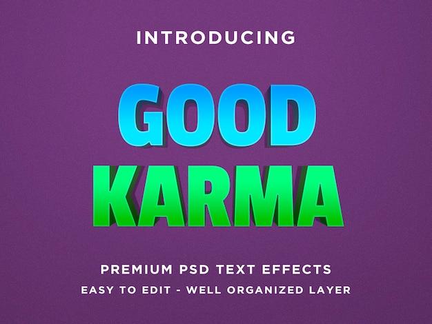 Good karma effetto testo 3d