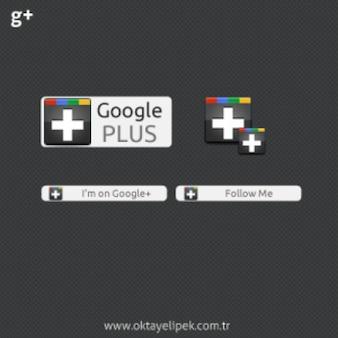 Google plus web-elementen psd