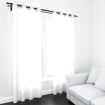 Gordijnen op wit venster