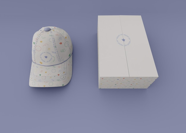 Gorra de béisbol con maqueta de empaque