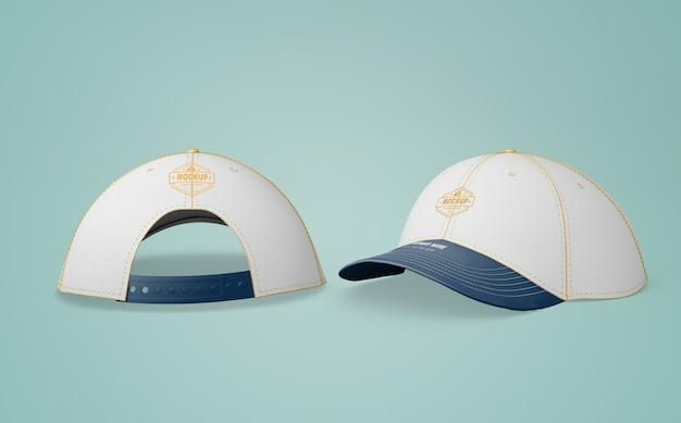 Gorra blanca con logo de empresa