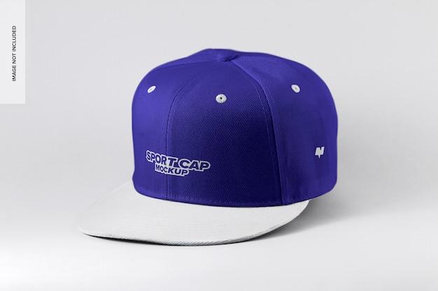 Gorra deportiva semi vista frontal maqueta