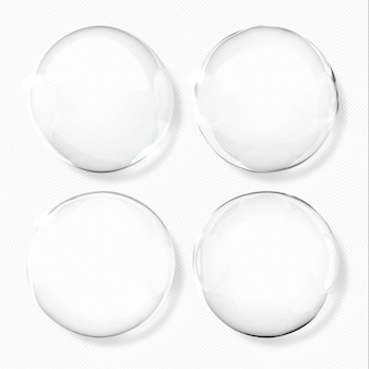 Gotitas de agua transparentes