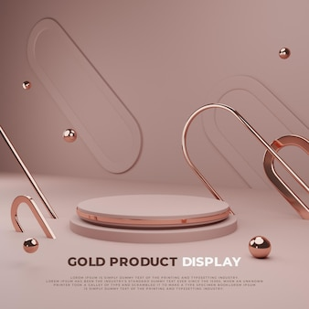 Goud 3d podium product display