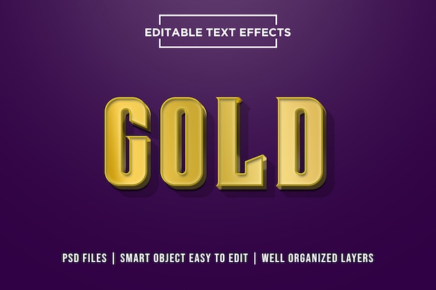 Goud - 3d vetgedrukt premium teksteffect
