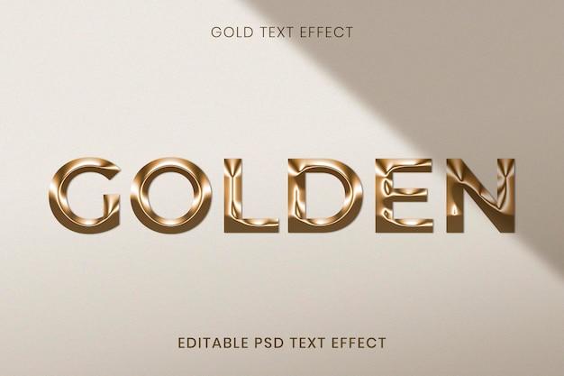 Goud bewerkbaar psd-teksteffect