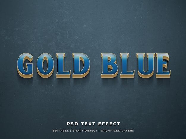 Goud blauw 3d teksteffect