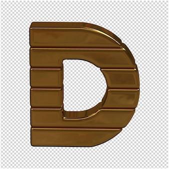 Goud brief 3d-rendering Premium Psd