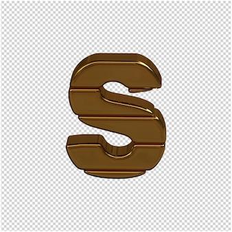 Goud brief 3d-rendering