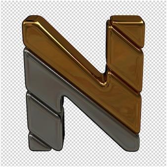 Goud en zilver letter 3d-rendering