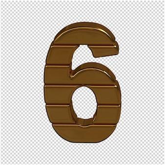 Goud nummer 3d-rendering