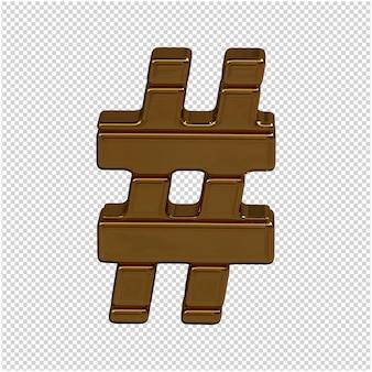 Goud symbool 3d-rendering