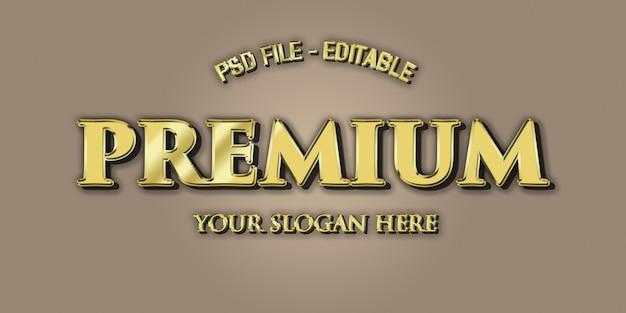 Gouden 3d tekst premium