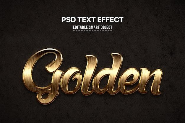 Gouden 3d tekststijleffect