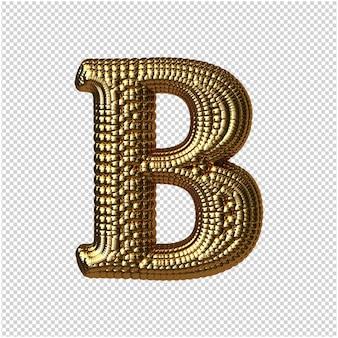 Gouden bollen brief 3d-rendering