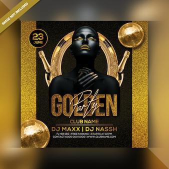 Gouden feest flyer